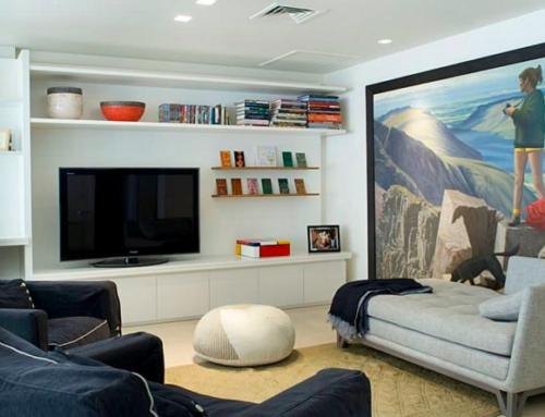Sala de estar para apartamentos de soltero en iFreses